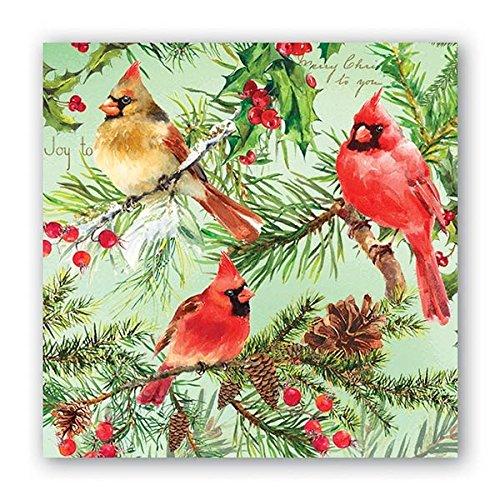 Michel Design Works NAP293 20-Count 3-Ply Paper Cocktail Napkins, Christmas Pine