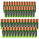 50pk Bulk Lot Container Duracell Duralock Rechargeable Batteries 25 AA & 25 AAA Battery NiMH 1.2V