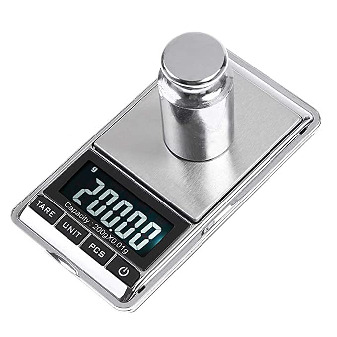 Balance Grams - 1pcs 200g 0 01g Precision Mini Electronic Lcd Digital Jewelry Weight Scales Pocket Balance Scale - Calibrator Bascula Analytical Lab ...