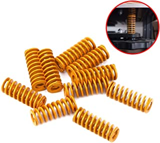 Wohlstand 3D Printer Springs,Heated Bed Springs,0.39 in OD 0.98 in Length Compression Springs,M3 Screw Light Load for Creality CR-10 10S S4 Ender 3 Motherboard Bottom Connect Leveling,Yellow- 10pcs