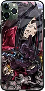 Madara Uchiha Naruto Anime Japanese Manga Compatible with iPhone Phone Case Cover Shell (Tempered Glass (Glossy), iPhone 7/8/SE(2020))