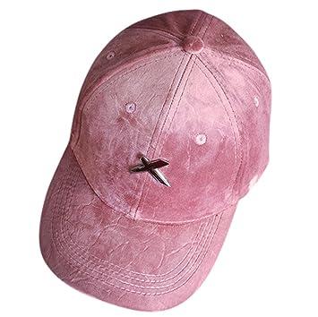 Gorras de béisbol, unisex, de terciopelo plano, con letra X, para ...