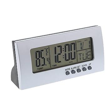 Oranmay LCD 12H/24H - Reloj Despertador Digital de sobremesa (Temperatura del termómetro): Amazon.es: Hogar