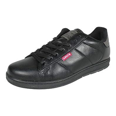 new product 4aa03 3beaa Levi's Herren Sneaker Declan Millstone 2 Tone Schwarz ...