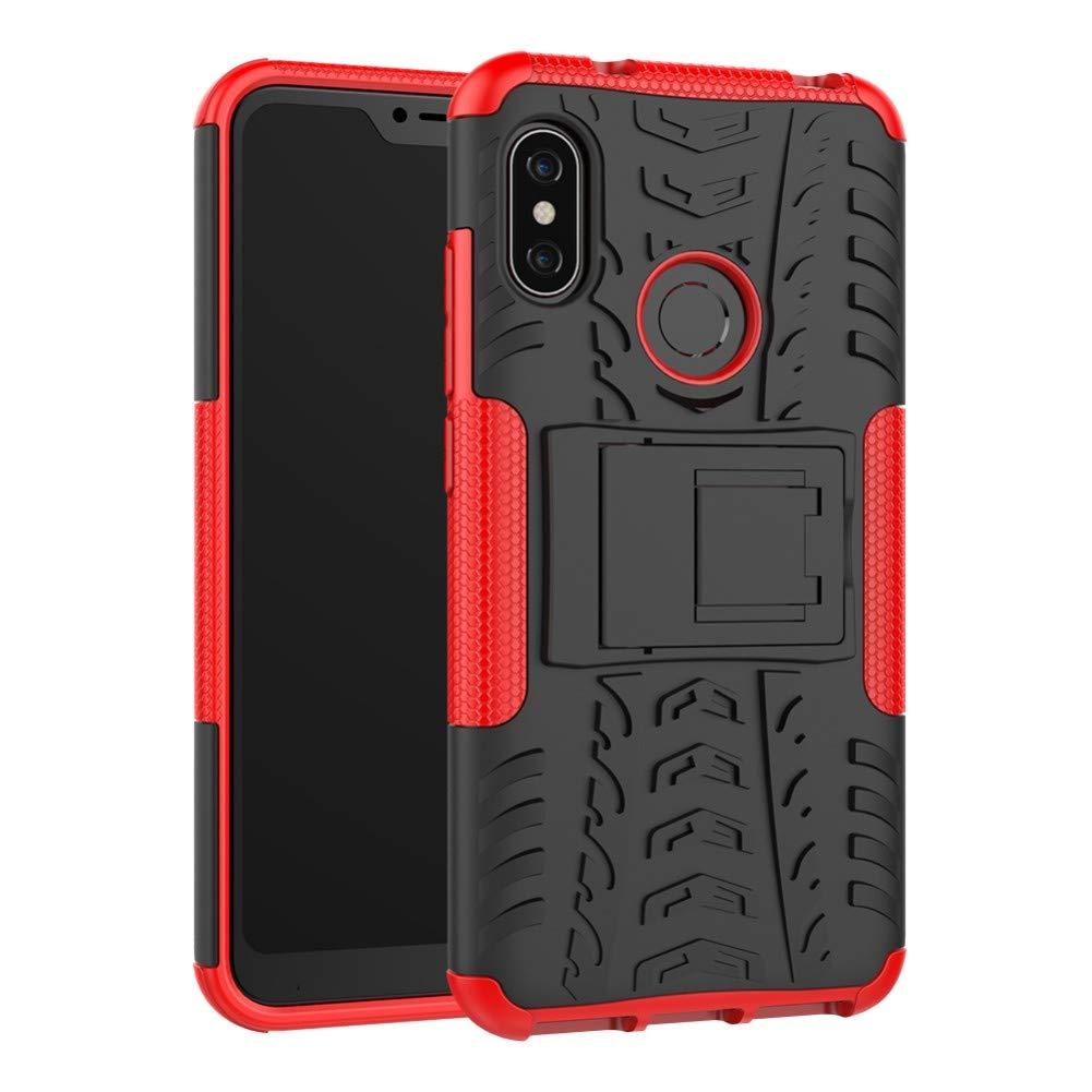 Funda para Xiaomi Mi A2 Lite / Redmi 6 Pro con pie color roja