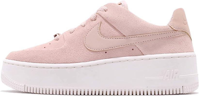 Amazon Com Nike Women S W Af1 Sage Low Basketball Shoes Multicolour Particle Beige Particle Beige Phantom 201 5 Uk Shoes