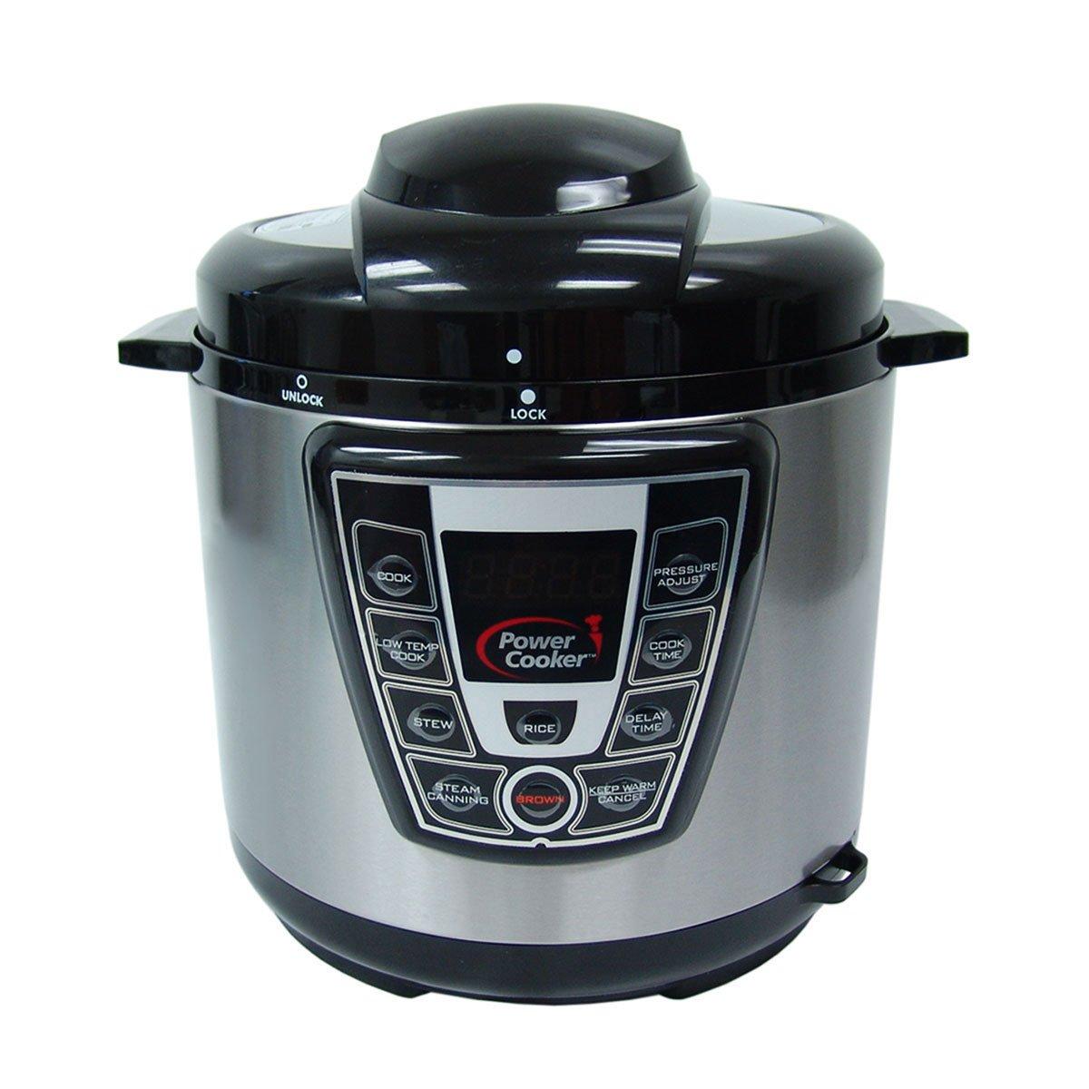Power Cooker Digital Electric Pressure Cooker 6-Quart (Certified Refurbished)