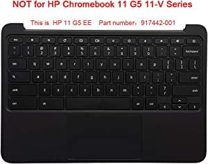 CAPARTS New Replacement Keyboard for HP Chromebook 11 G5 EE,Laptop Palmrest Keyboard & Touchpad Assembly - P/N 917442-001 (NOT for HP Chromebook 11 G5 11-V Series)