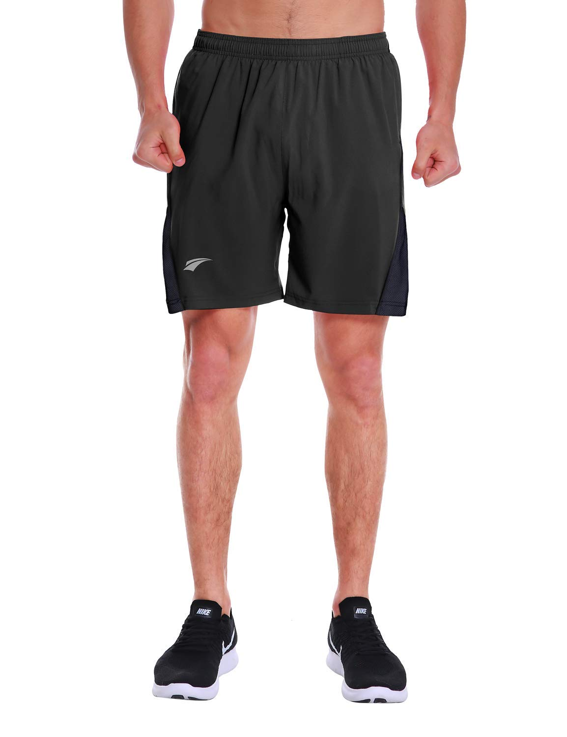 cd437ef7 EZRUN Men's 7 Inch Quick Dry Running Shorts Workout Sport Fitness Short  with Liner Zip Pocket