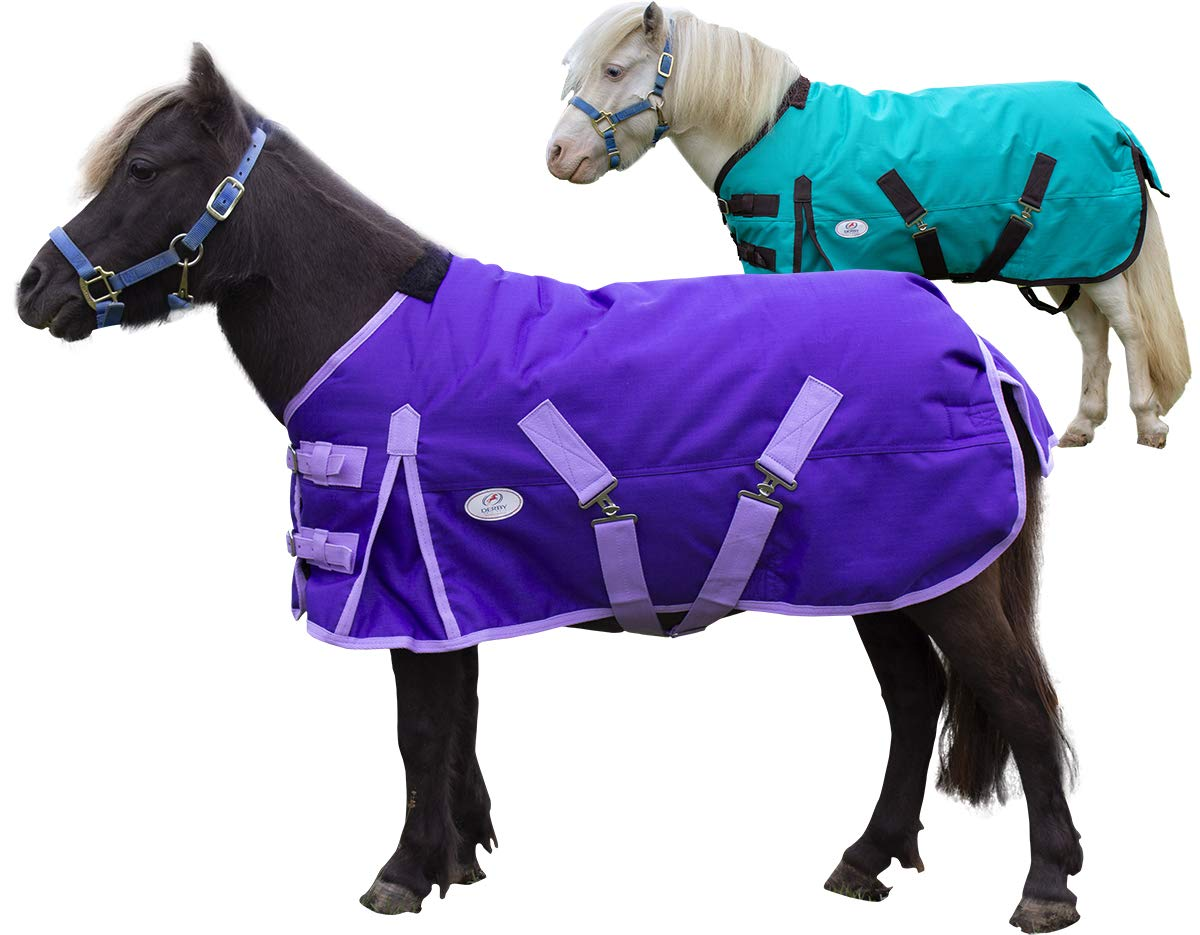 Derby Originals Extreme Elements Series Mini Horse and Pony 1200D Ripstop Waterproof Nylon Winter Turnout Blanket with 300g Polyfil Insulation - Two Year Limited Manufacturer's Warranty by Derby Originals