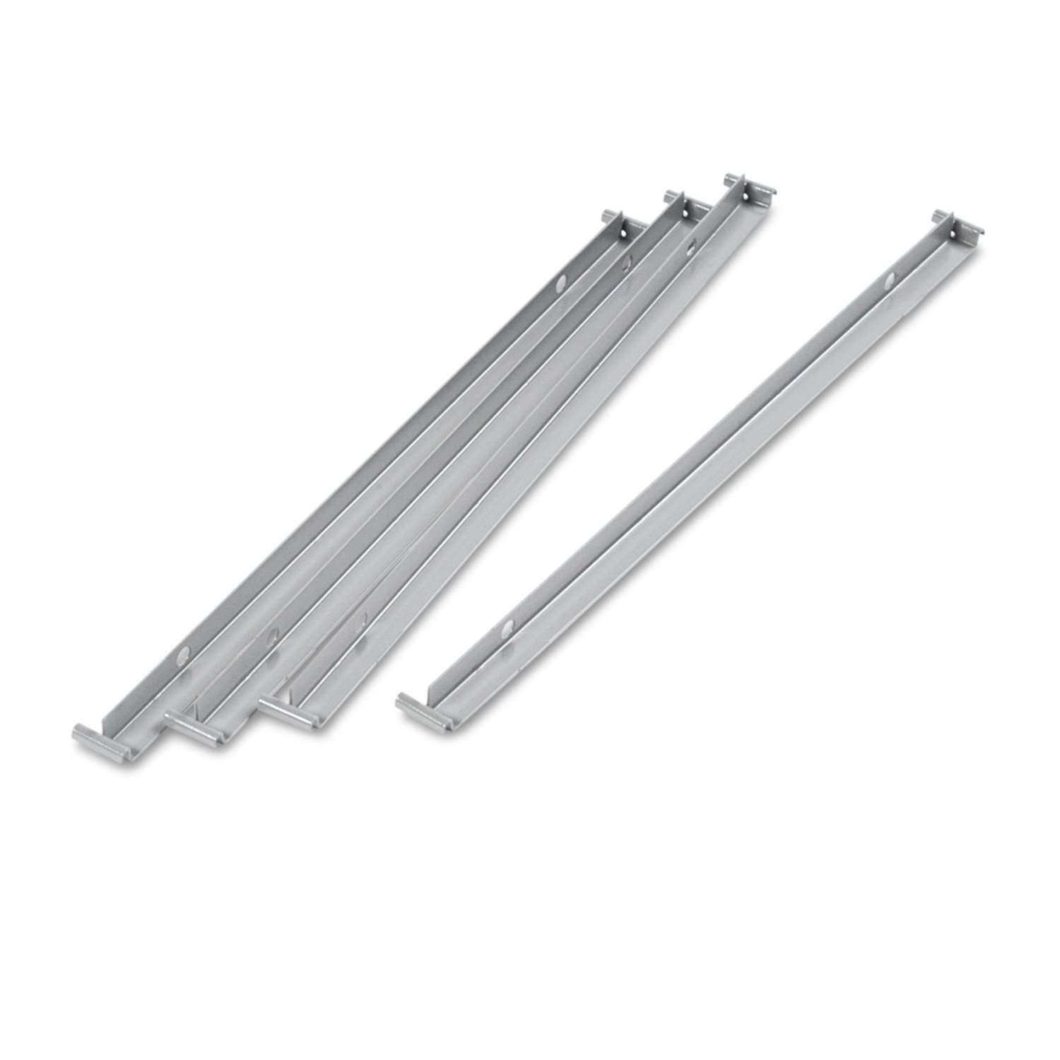 Alera ALELF3036 Two Row Hangrails for 30 or 36 Files, Aluminum (Pack of 4) United Stationers