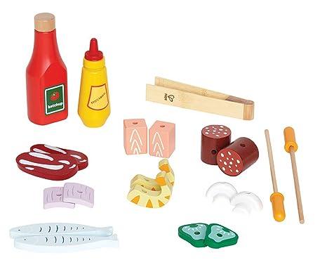 Wood Play Kitchen Shish Kabob Set