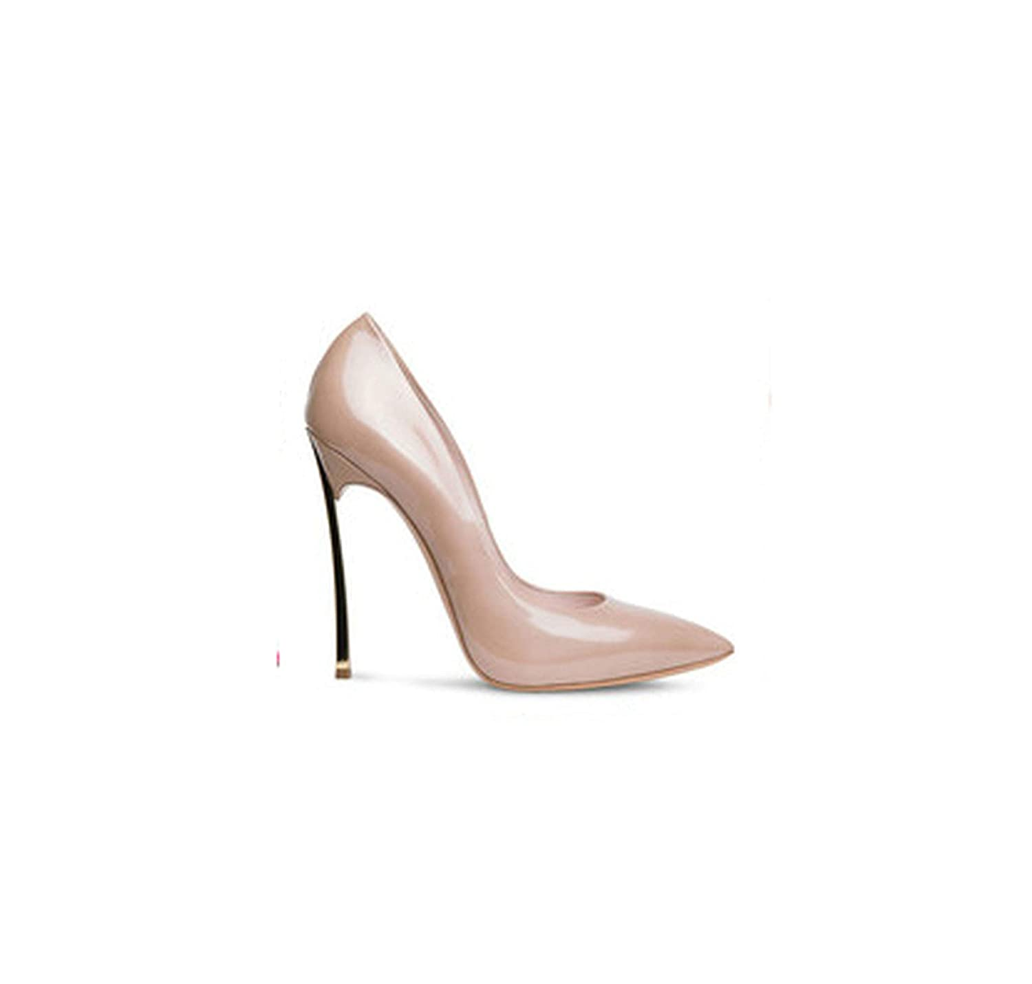 Patent nude RAINIE002 Brand shoes Woman High Heels Women Pumps Stiletto Thin Heel Women's shoes Nude Pointed Toe High Heels Wedding shoes Size 33-43