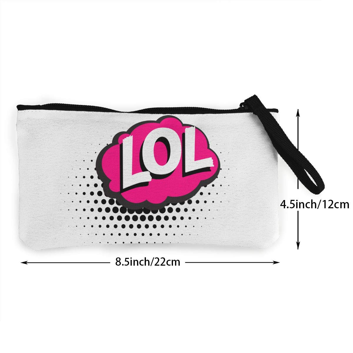 LOL Acronym Zipper Canvas Coin Purse Wallet Make Up Bag,Cellphone Bag With Handle