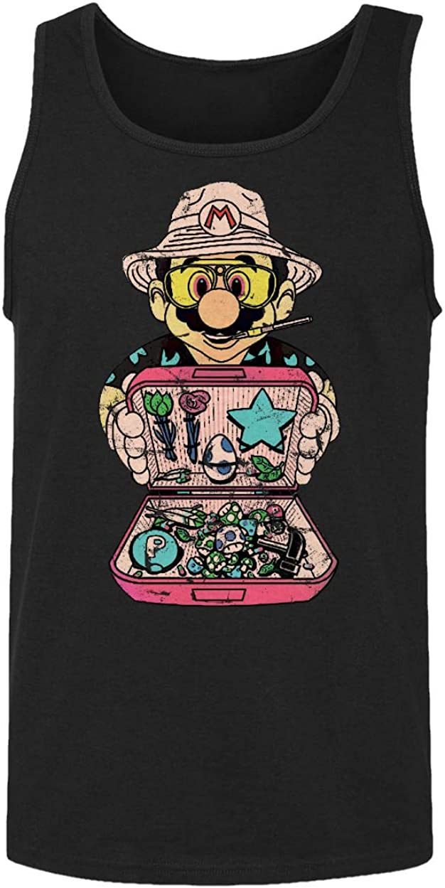 B07G7H6TH4 RIVEBELLA New Graphic Shirt Fear and Loathing in Marioland Novelty Tee Mario Men's Tank Top 61Svhs4k7jL