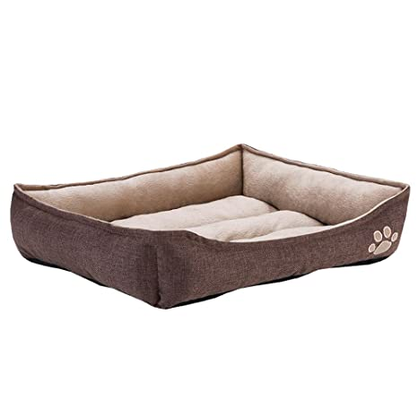 Zooplus caseta/Cama para Perro de Interior – 90 X 65 X 20 – Marrón