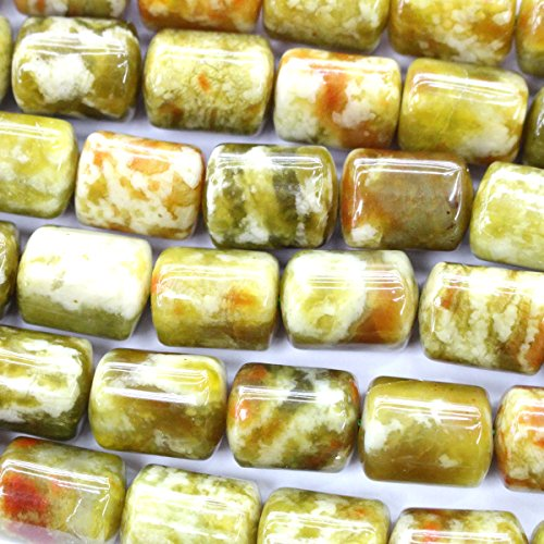 Natural serpentine triangle barrel 10*13mm Gemstone Jewelry Making Loose Beads