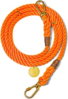 product image for Found My Animal Rescue Orange Rope Dog Leash, Adjustable Small