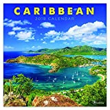 2019 Wall Calendar - 2019 Caribbean Calendar, 12x12 Inch Monthly Calendar, Travel and Destination Theme, with 4-Month 2020 Bonus Spread