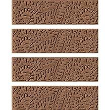 Aqua Shield Boxwood Stair Treads, 8.5 by 30-Inch, Dark Brown, Set of 4