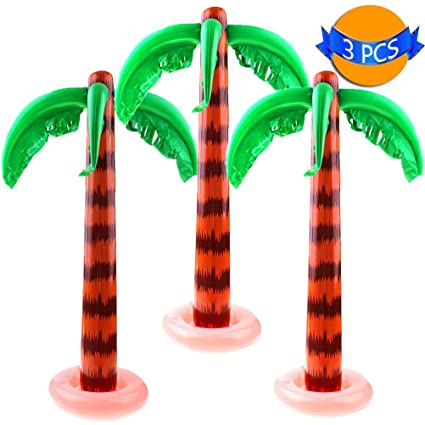 Spielzeug für draußen Dssy 2 Pack Inflatable Palm Trees Jumbo Coconut Trees For Hawaiian Luau Party...