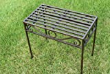 Versailles Metal Side Table or Plant Stand in Antique Bronze Finish (Small Size)- Ideal for the Home or Garden