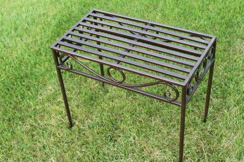 GardenMarketPlace Tavolino o Base in Metallo, in Stile Versailles, in Bronzo Antico Finitura (Grandi Dimensioni) – Ideale per casa e Giardino