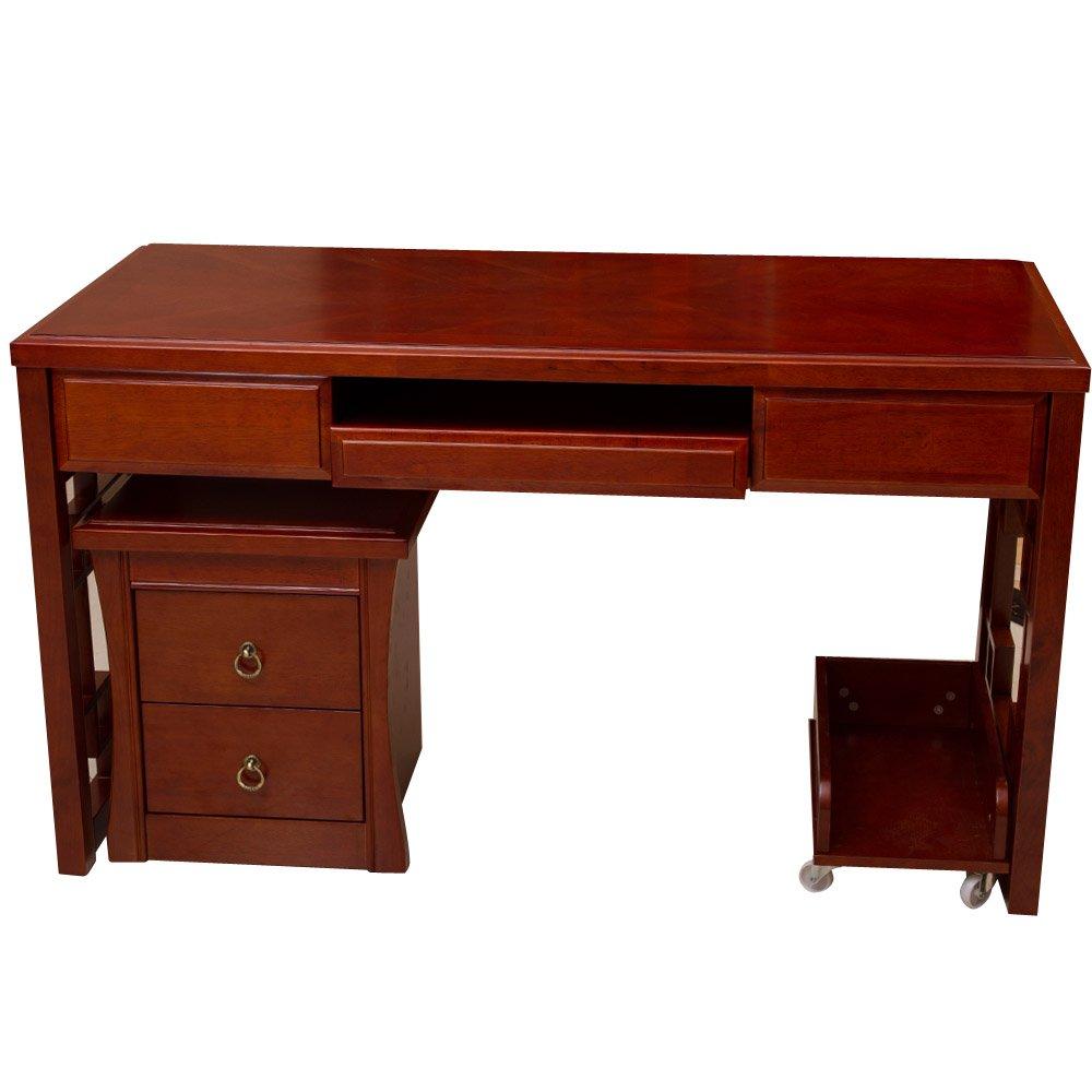 lianyi 聯一家具 新中式實木電腦桌臺式桌家用 簡約寫字臺橡木書桌圖片