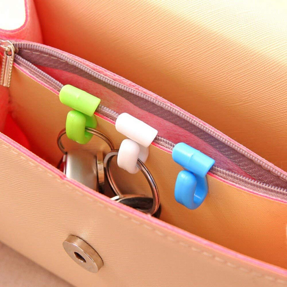 Plastic Novelty Home Mini Cute Creative Anti-lost Hook Within The Bag Key Storage Holder Rack Robe Hooks Bathroom Hardware 2pcs High Safety Bathroom Hardware Robe Hooks