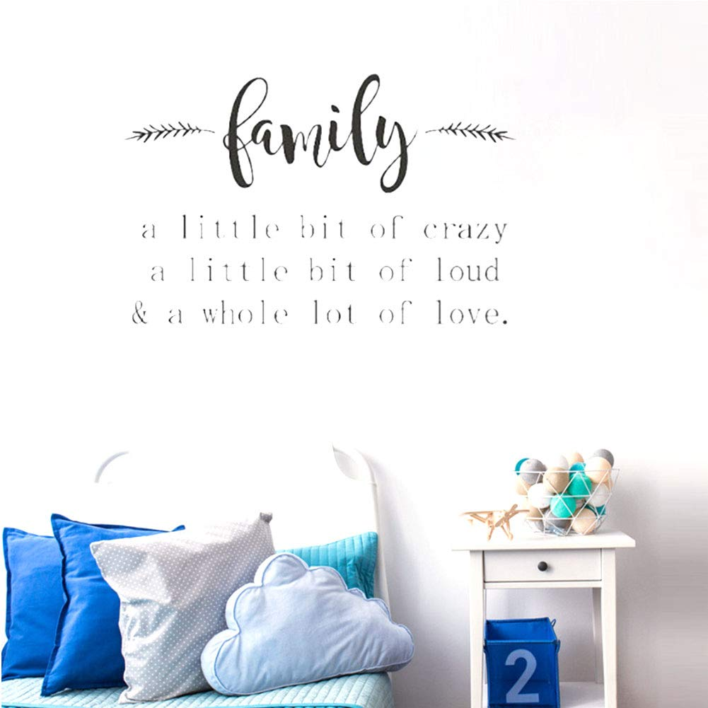 Family Quotes Sayings Words Art Decals Lettering Vinyl Wall Art Self Adhesive Wall Decals For Music Room Living Room Bedroom Home Decor Home Urbytus Com