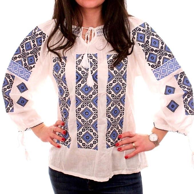 Amazon.com: Vestido de fiesta rumano tradicional rumano Ie ...