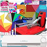 Silhouette Cameo 3 Bluetooth Heat Press T-Shirt Business Bundle with 11x15 Heat Press, Siser Vinyl, Swatch Book, Guides, Class, Membership and More