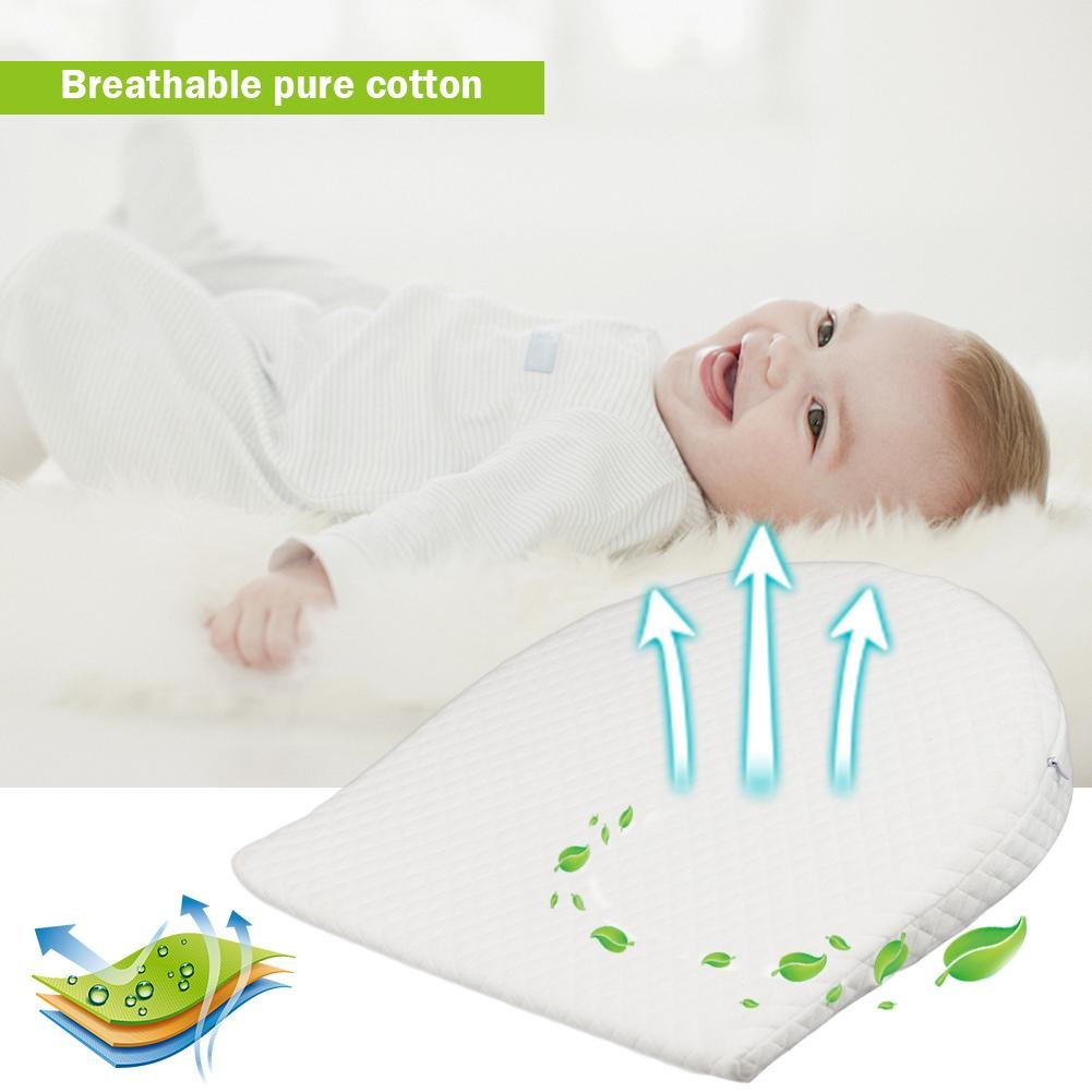 Happt Memory Resilience Cotton Abnehmbare Slope Shaping Kissen Milch Anti-Reflux-Kissen F/ür Babys
