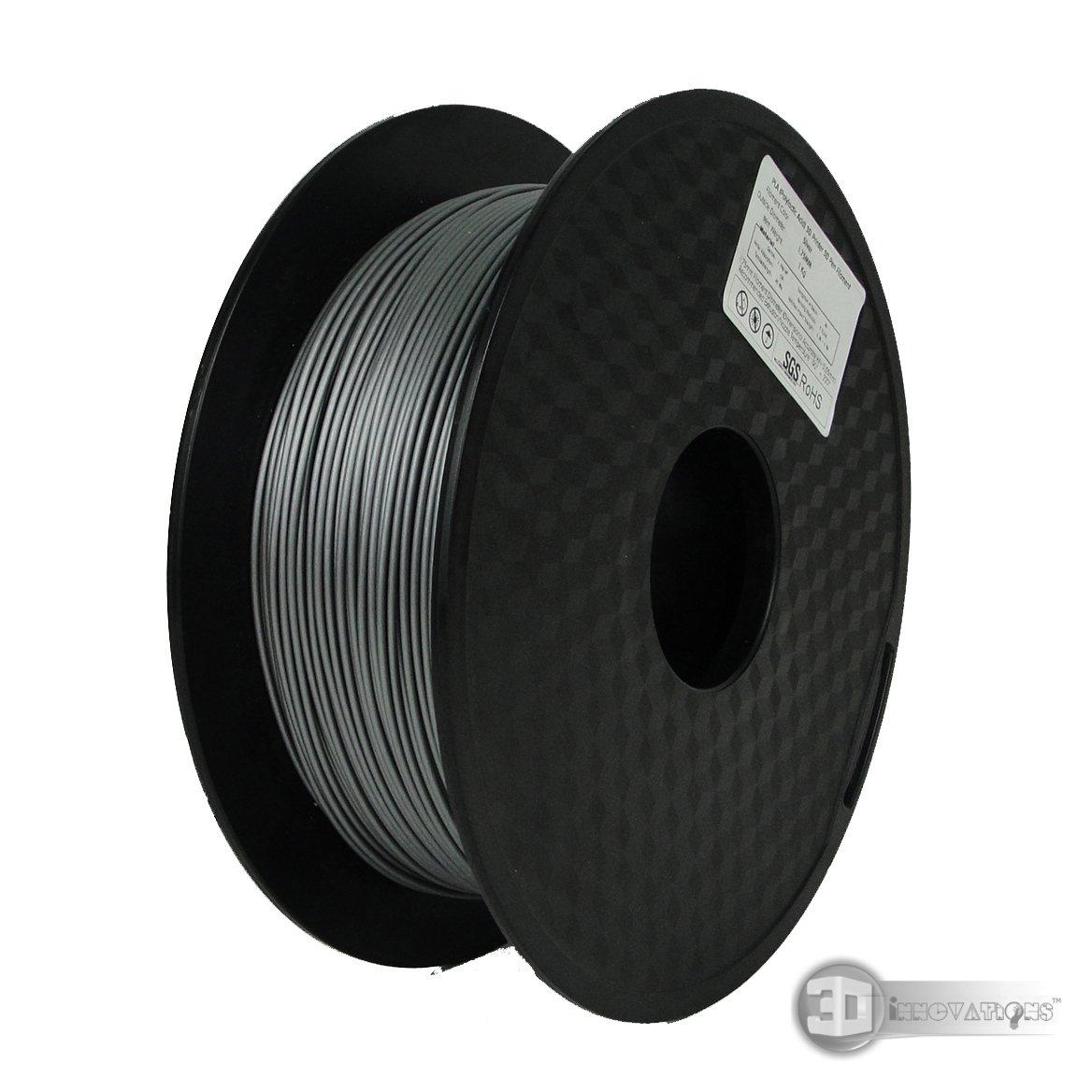 3D Printer Filament 1 Kg, PLA, Silver,1.75 mm Dia