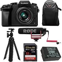 Panasonic LUMIX G7 Digital Camera with 14-42mm f/3.5-5.6 Lens & Rode Microphone Accessory Bundle