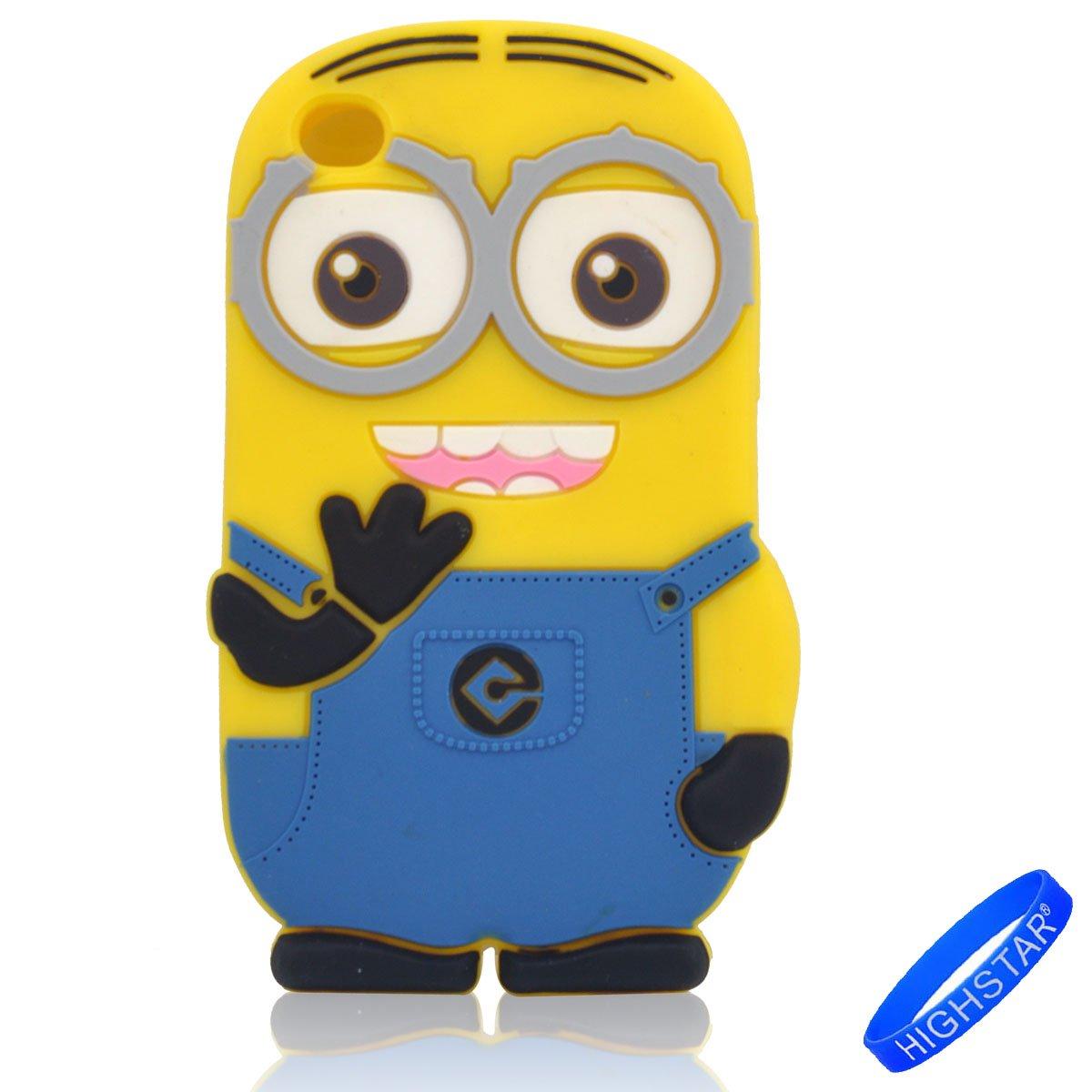 4g iTouch Cuarta Generacion 2 dos ojos Minion Minions Robinhood99 Funda Carcasa de Silicona para Apple iPod Touch 4 4th