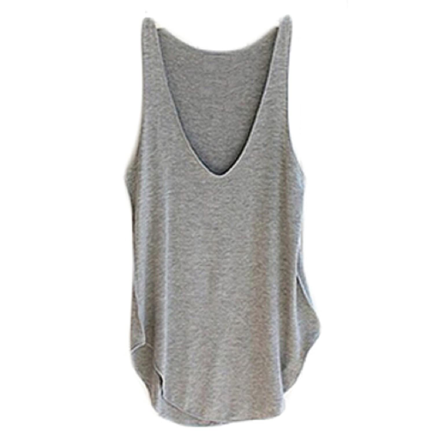 Vovotrade Fashion Summer Woman Lady Sleeveless V-Neck Candy Vest Loose Tank T-shirt