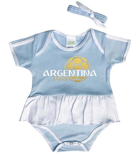Pam GM Argentina - Body de fútbol para niñas Azul Azul Claro Talla:3 ...