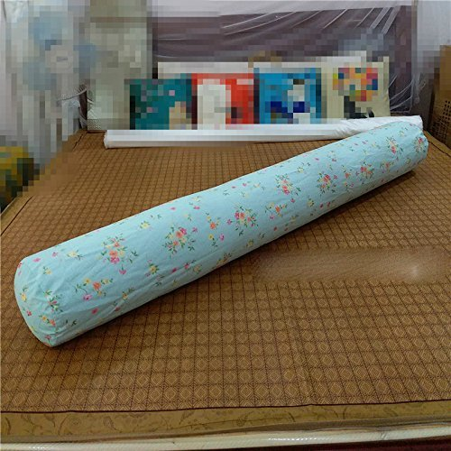 HOMEE Cylindrical Long Big Sleeping Pillow Clamp Around the Pure Cotton Heads Back Pad Can Be Removed from the Sofa Beds in the United States Money-Seamless ,100Cm, Eggs (Pink),Small Saika,180cm