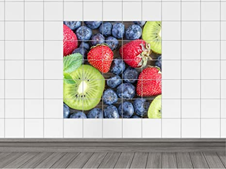 Piastrelle adesivo piastrelle immagine frutta fragole cucina bagno