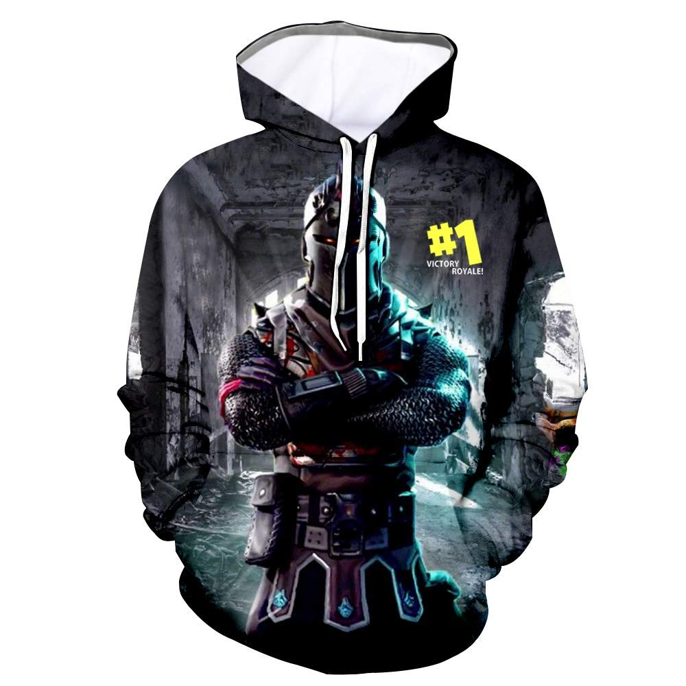 Youth 3D Printed Hooide Battle Royale Floss Sweatshirt with Pocket for Ninja Boys