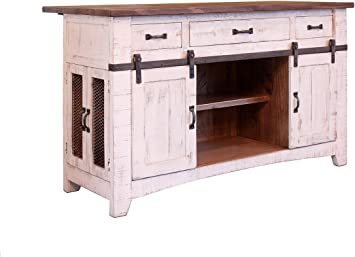 Amazon Com Burleson Home Furnishings Anton Farmhouse Solid Wood