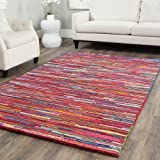 Safavieh Nantucket Collection NAN142A Handmade Abstract Pink and Multi Cotton Area Rug (10′ x 14′) Review