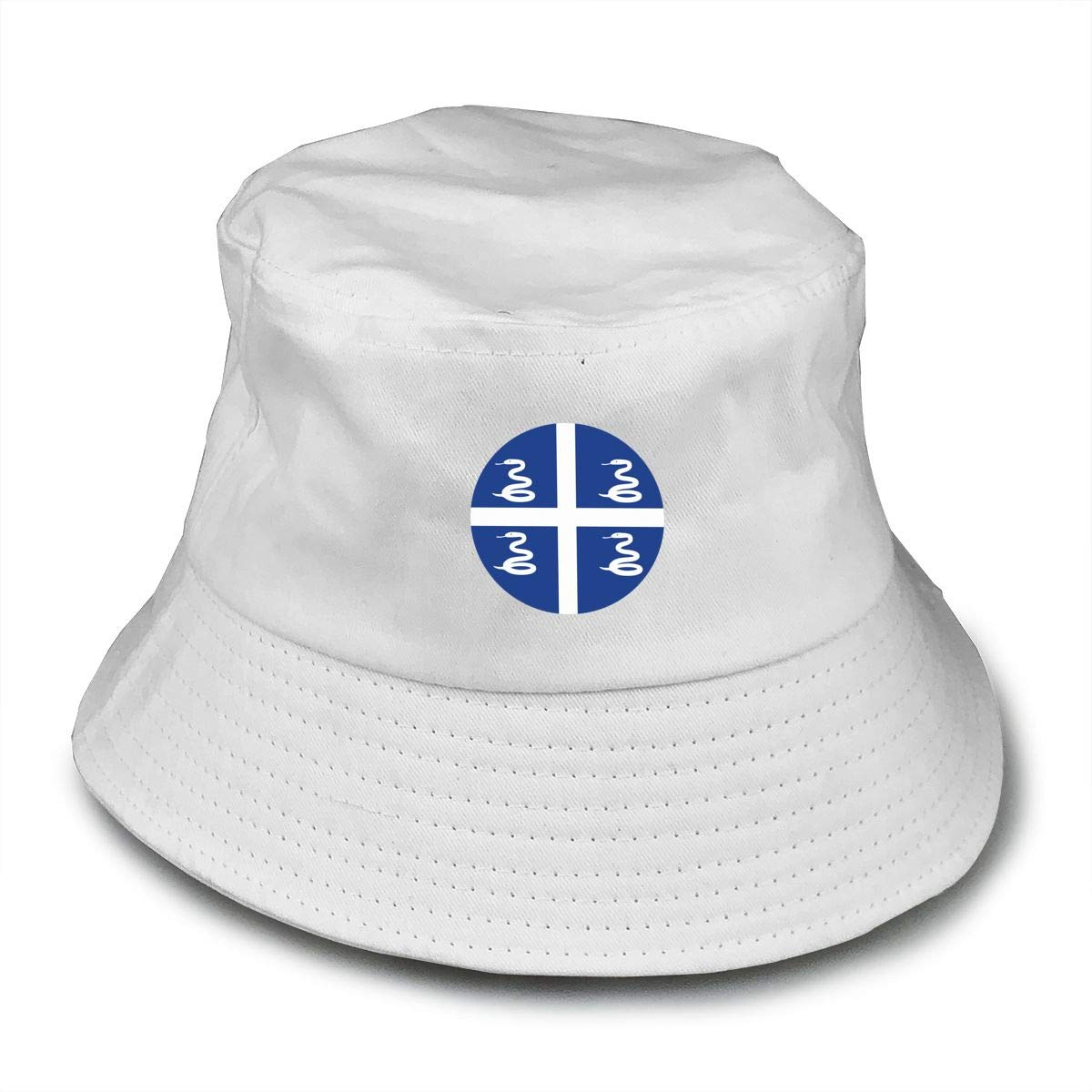 NDFGR Flag of Martinique Unisex Cotton Packable Black Travel Bucket Hat Fishing Cap