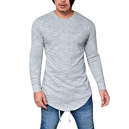 Sannysis Camisetas termicas Hombre, Camisetas Interior de Manga Larga con Cuello en O Blusa Invierno