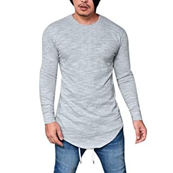 Sannysis Camisetas termicas Hombre, Camisetas Interior de Manga Larga con Cuello en O Blusa Invierno Camisetas Manga Larga algodón Hombre Slim fit Camiseta ...