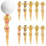 KOFULL Colored Bikini Woman Golf Tees Plastic Tee Plastic Lady Golf tee Divot Tool -10/Pack