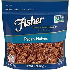 FISHER Chef's Naturals Pecan Halves, No Preservatives, Non-GMO, 10 Ounce