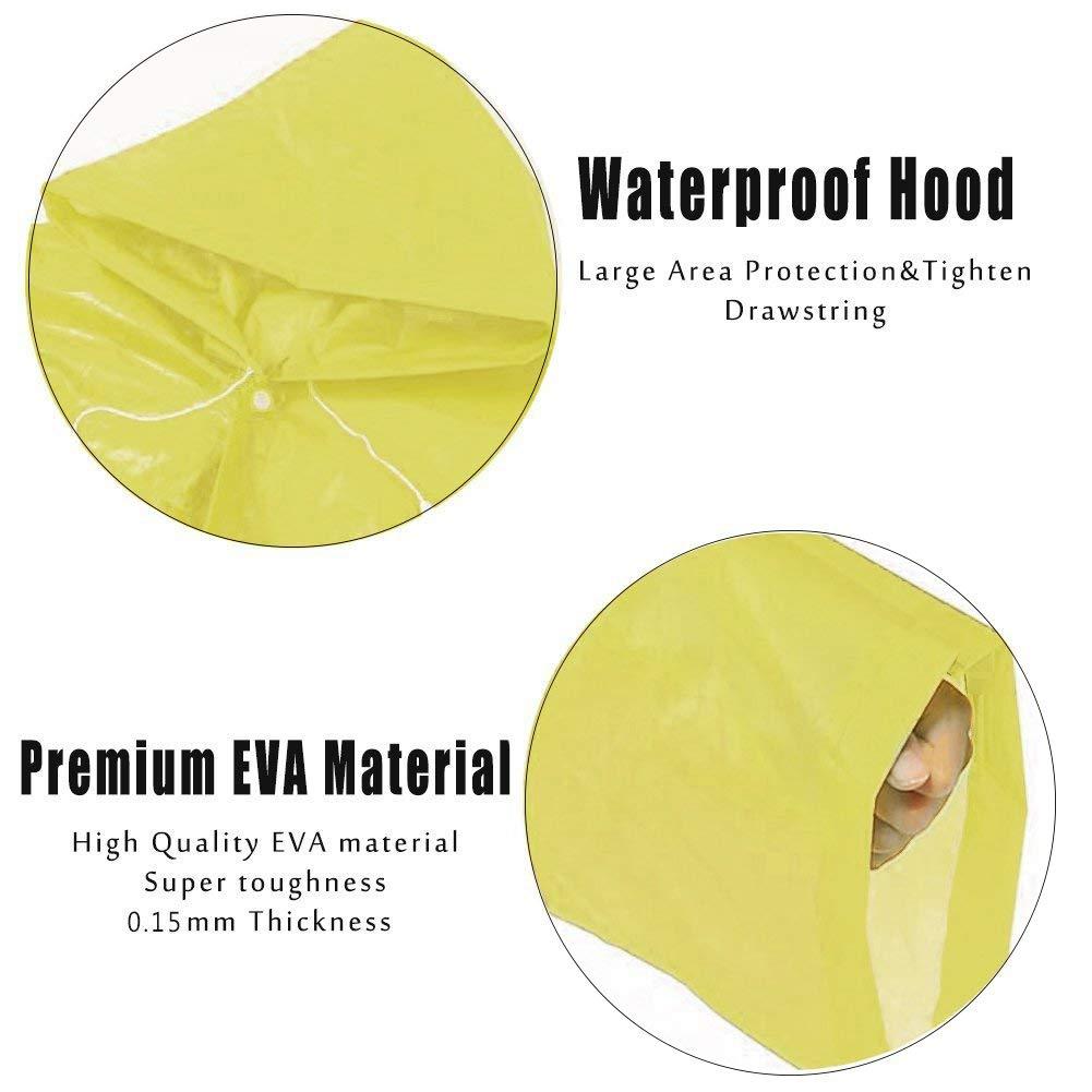 WeiMay Impermeable creativo, reutilizable, para niños.Poncho de lluvia en goma EVA, con capucha y mangas, para escalada al aire libre, ciclismo, ...