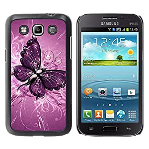 iBinBang / Funda Carcasa Cover Skin Case - Pintura de la mariposa patrón floral púrpura - Samsung Galaxy Win I8550 I8552 Grand Quattro